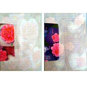 2 Conjuntos Papel De Carta+envelope Lindas Rosas Lote 64