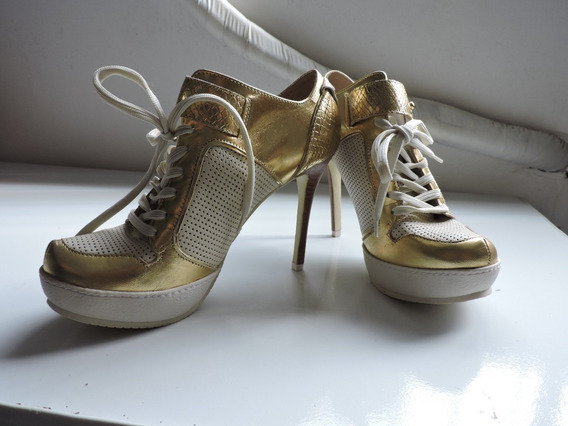 Sapato Salto Alto Jorge Bischoff Estilo Arlequina