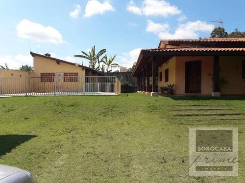 Imagem 1 de 11 de Chácara Com 3 Dormitórios À Venda, 1450 M² Por R$ 550.000,00 - Residencial Alvorada - Araçoiaba Da Serra/sp - Ch0010