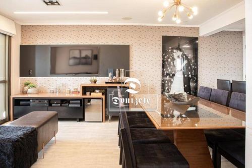Apartamento Com 2 Dormitórios À Venda, 90 M² Por R$ 720.000,00 - Vila Pires - Santo André/sp - Ap16218
