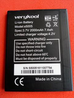 Batería Verykool. Modelo S5005, S5027. 2000 Mah. Originales.