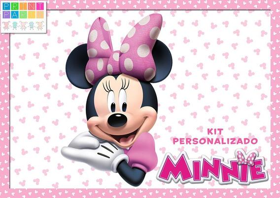 Minnie Rosa Kit Imprimible Personalizado Con Candy Bar