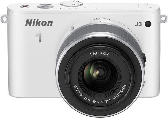 Câmera Nikon 1 J3 Branca Seminova Com Lente 10-30mm 3.5-5.6