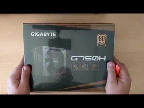 Fonte Gigabyte 750w 80 Plus Gold Semi Modular G750h