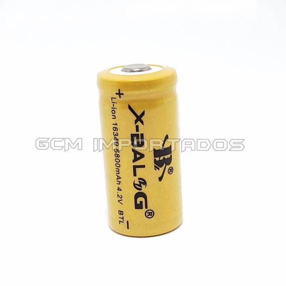 Kit 12x Bateria Pilha Gold Recarregável 16340 4,2v Cr123a
