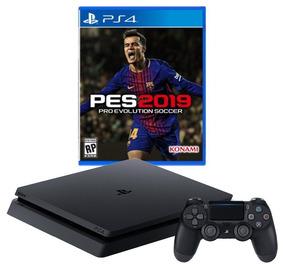 Ps4 1tb Sony 2215b, Novo , Zero + Jogo Pes 2019 Mídia Física