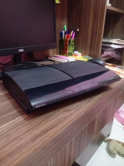 Ps3 Super Slim 500gb + Controle + Jogos