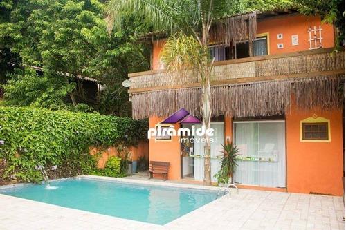 Pousada Com 8 Dormitórios À Venda, 595 M² Por R$ 1.650.000,00 - Perequê - Ilhabela/sp - Po0014