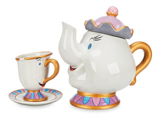 Set De Té Ceramica Sra Potts Y Chip Original De Disney Store