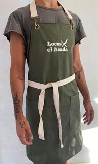 Delantal Parrillero Locos X El Asado Ripstop Antidesgarro