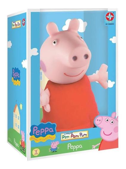 Boneca Pelúcia Peppa Pig Cabeça De Vinil - Estrela