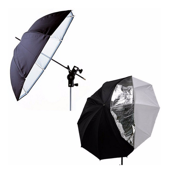 33 Foto Dupla Camada De Iluminação Contínua Kit Guarda-chuva