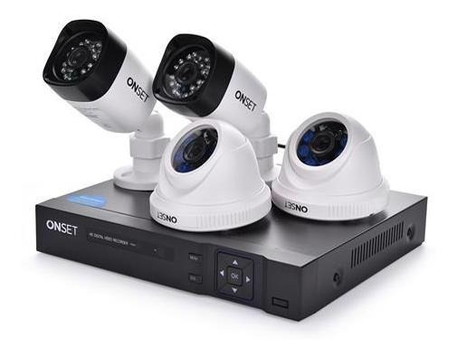 Kit 4 Camaras De Seguridad Hd Visión Nocturna E Internet