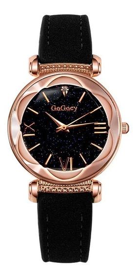Relógio Luxo Feminino Céu Estrelado Diamante Galaxia Oferta