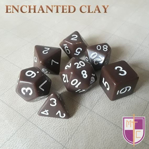 Set De Dados Poliédricos Wiz - Enchanted Clay