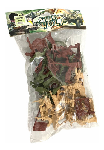 Soldados De Juguete 3 Colores Plástico Bolsita Infantil