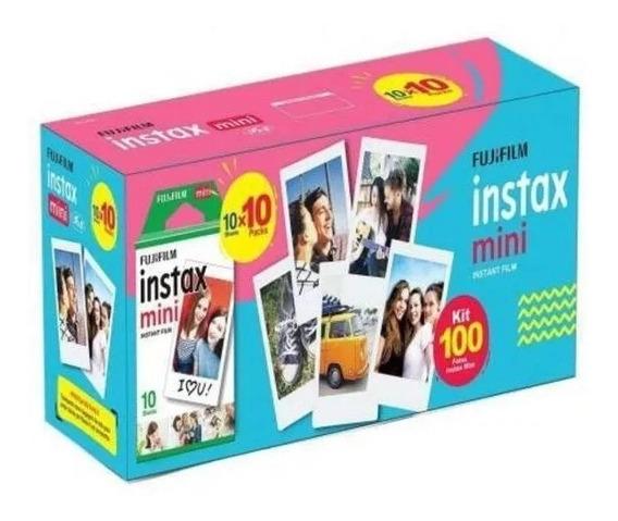 Filme Instax Mini 100 Fotos Poses Caixa Lacrada Fujifilm