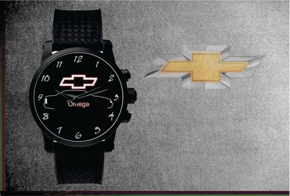 Relógio De Pulso Personalizado Logo Chevrolet Omega Gm Gls