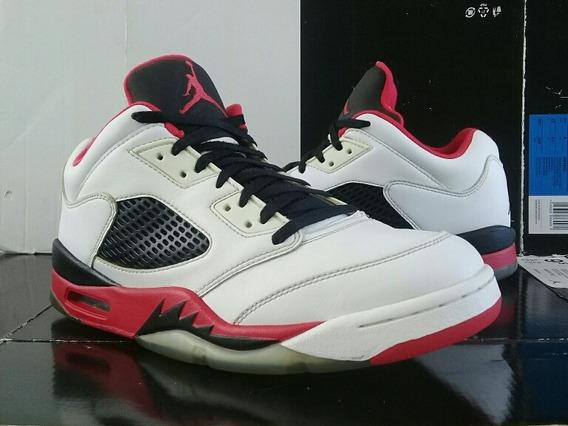 Jordan 5 Low Gym Red (28cm) Retro Bred Playoffs Zoom