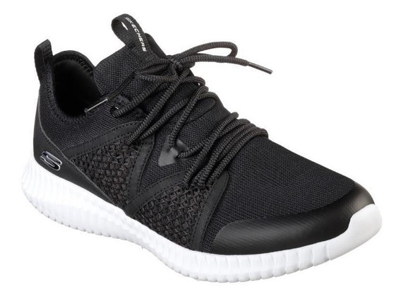 Tenis Skechers Elite Flex Falconholt Negro / Blanco Hombre