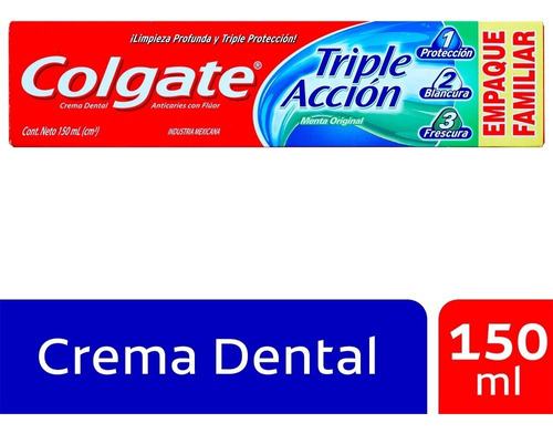 Crema Dental Colgate Triple Accion X 150ml