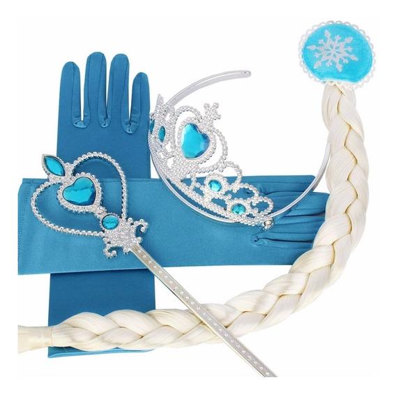 Trenzas De Frozen/ Corona / Varita /guantes De Elsa Y Ana