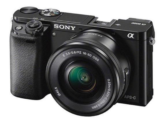 Câmera Sony Alpha A6000 + 16-50mm E 3 Filtros Nd Haida