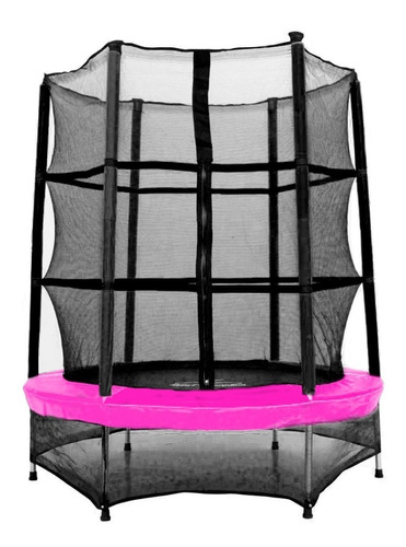 Cama Elastica Pula Pula 1,40 Plus Rosa Henri Trampolim