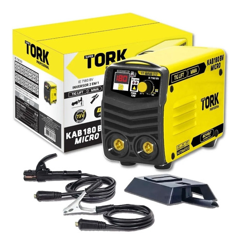 Inversora De Solda Tork Kab 180 C/ Display Digital - Bivolt