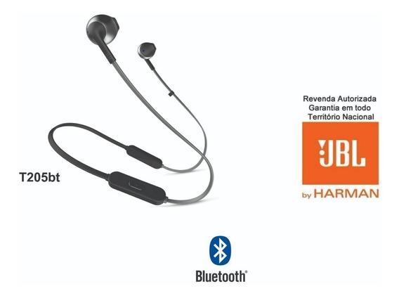 Fone De Ouvido Jbl T205bt Preto Sem Fio Bluetooth Original