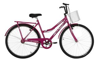 Bicicleta Aro 26 Summer Tropical V-break Rosa Ultra Bikes