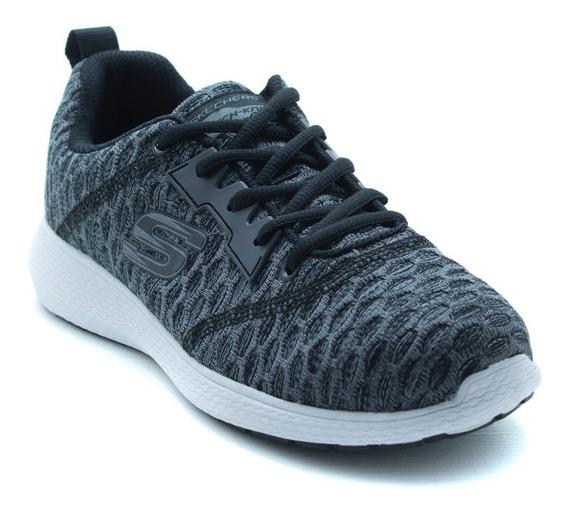 Tenis Skechers Sport 52883 Negro Blanco Memory Foam Original