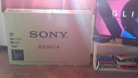 Smart Tv - Led 43 Sony Kd-43x705f Ultra Hd 4k - Preta