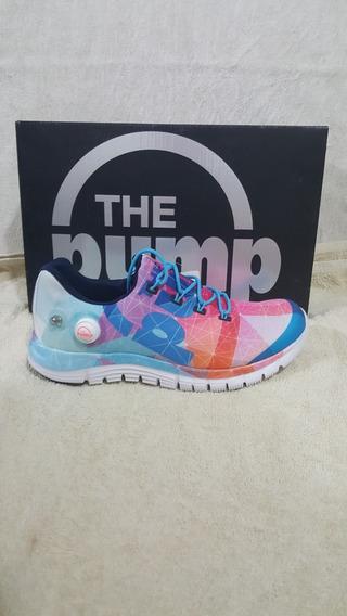 Zapatos Reebok Pump Multicolor Originales Dama
