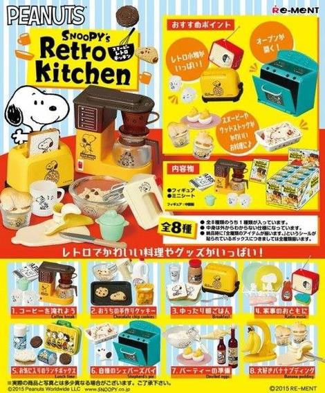 Caixa Lacrada Re-ment Snoopy Retro Kitchen Completo Barbie