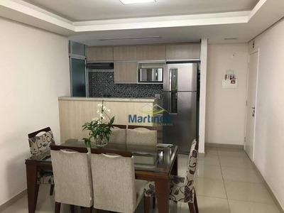 Apartamento Com 3 Dormitórios À Venda, 75 M² Por R$ 450.000 - Parque São Lucas - São Paulo/sp - Ap0879