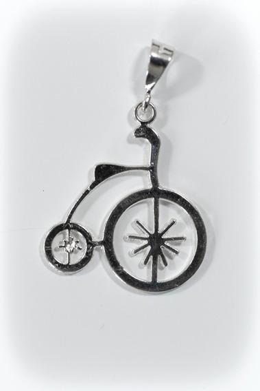 Dije De Bicicleta Antigua | Bici Antigua De Plata .925 |