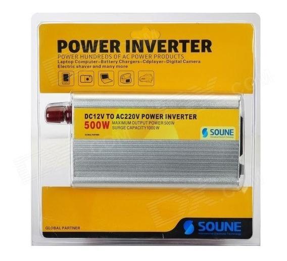 Inversor Adaptador Transformador Veicular 500w 12v 220