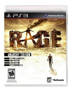 Rage Anarchy Edition Ps3 Original Completo Mídia Física