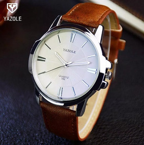 Relógio Yazole Mod. 011 Pulseira Couro - Relógio De Pulso