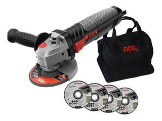 Esmerilhadeira Lixadeira Ferro 9004 Skil 4.1/2 830w + Discos