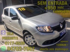 Renault Sandero 1.0 12v Authentique Completo Sem Entrada+950