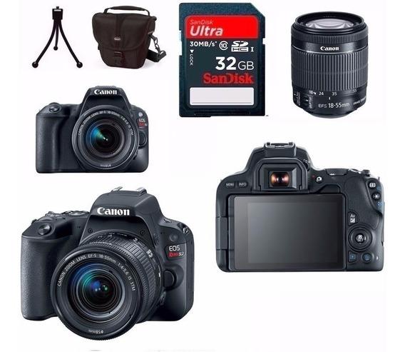 Câmera Canon Eos Sl2+18-55+bolsa+tripé+32gb C/ Nota Fiscal