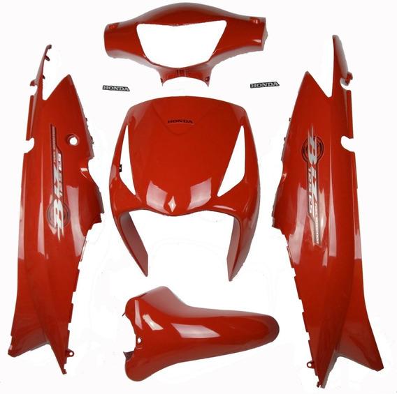 Paralama + Tampa + Bico + Farol Biz 125 2010 Es Vermelha