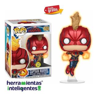 Captain Marvel #433 Glow In The Dark Funko Pop