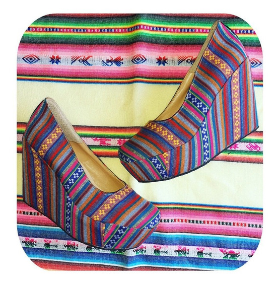 Sandalias De Aguayo - Plataforma - Barro Cocido