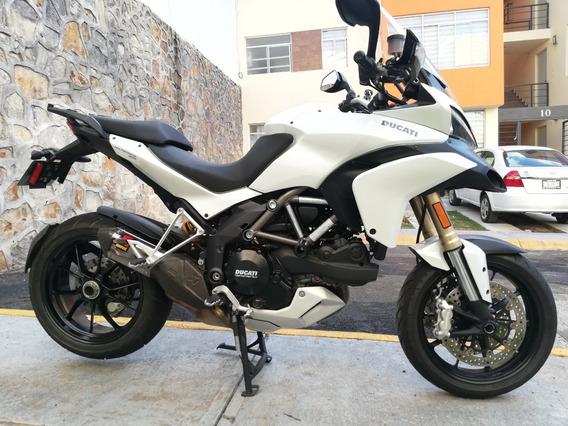 Ducati Multistrada 1200 Blanca Escape Akrapovic