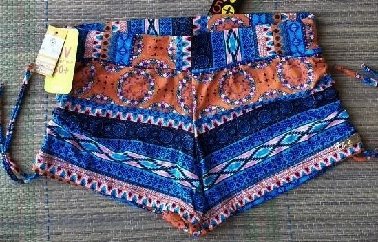 Kit 2 Sunquinis Shorts Praia Tal Mãe Tal Filha