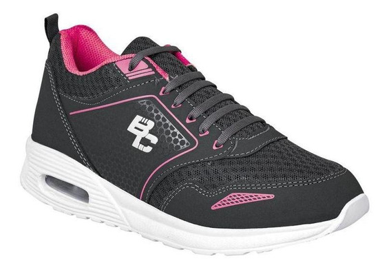 Tenis Been Class Mujer Gris Textil 11551