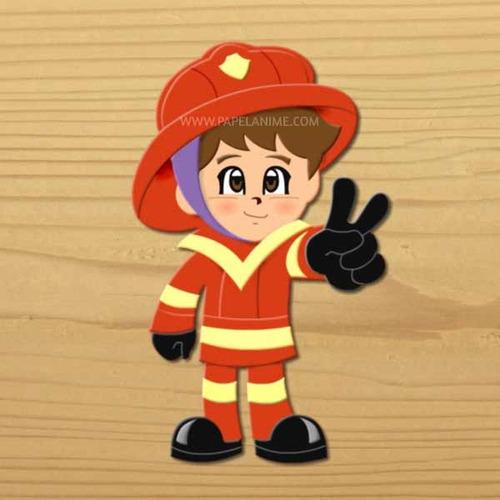 Bombero Figura Decorativa Diseño Infantil Estilo Anime